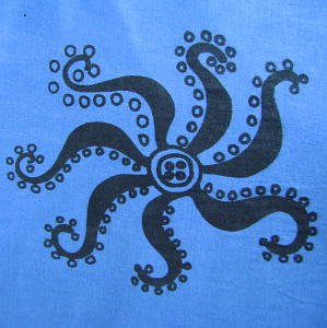 Estampado natural pulpo