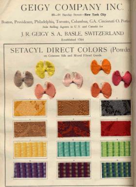 Propaganda Geigy Tintes directos al cromo
